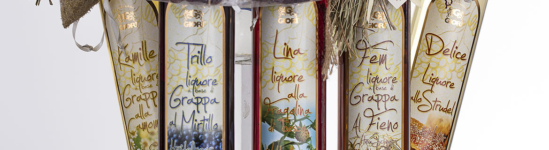 Classici liquori alla frutta, alle erbe, tradizionali, amari.